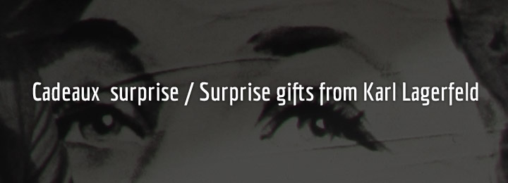 Cadeaux surprise / Surprise gifts from Karl Lagerfeld